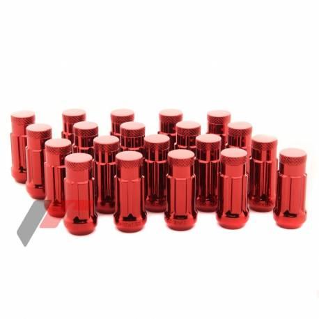 Pyöränmutterisarja M12x1.25, punainen