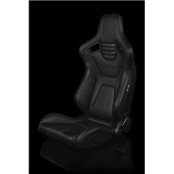 BRAUM Elite-X Series Sport Penkki - Black Leatherette (Purple Stitching)