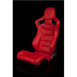 BRAUM Elite Series Sport Penkit - Red Leatherette (Black Stitching)