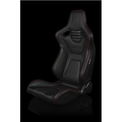 BRAUM Elite-X Series Sport Penkit - Black Leatherette (Red Stitching)