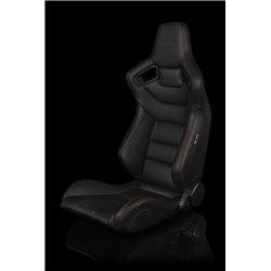 BRAUM Elite Series Sport Penkit - Black Leatherette (Orange Stitching)