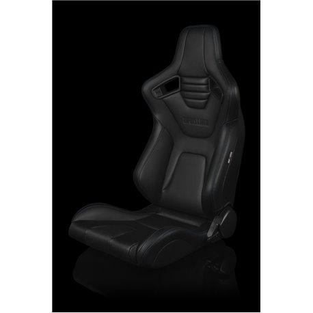 BRAUM Elite-X Series Sport Penkit - Black Leatherette (Blue Stitching)