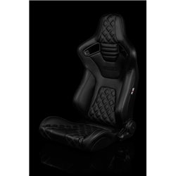 BRAUM Elite-X Series Sport Penkit - Black Diamond (Double Grey Stitching / Black Piping)