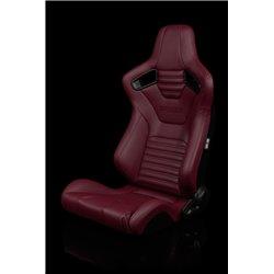 BRAUM Elite-X Series Sport Penkit - Maroon Leatherette (Black Stitching)