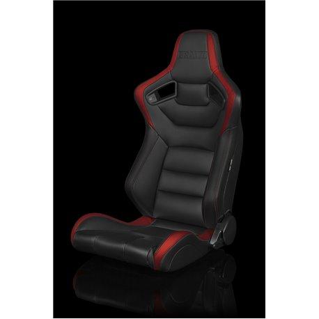 BRAUM Elite Series Sport Penkit - Black and Red Leatherette