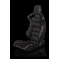 BRAUM Elite Series Sport Penkit - Black Leatherette (Red Stitching)