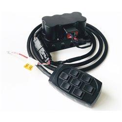 Roisketiivis venttiilipaketti + switchbox ilmajousituksen kulmakohtaiseen säätöön