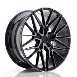 JR Wheels JR38 20x9 ET20-45 5H BLANK Black Brushed w/Tinted Face